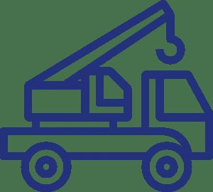 Lift and shift crane icon