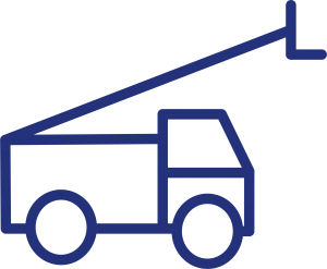 Plant and equipment lift icon